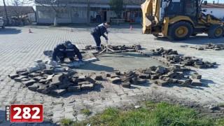 Ergene'de Bozulan ve Deforme Olan Parke Taş Yollar Onarılıyor