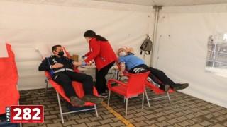 Marmaraereğlisi Belediye Personelleri, Kızılay'a kan bağışında bulundu