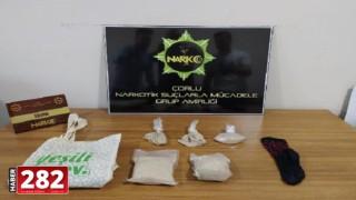 Kanepe içine gizlenen uyuşturucu bulundu