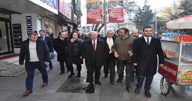 BAŞKAN ALBAYRAK, ÇORLU ESNAFI İLE BİRARAYA GELDİ
