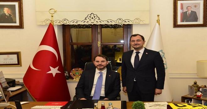 Bakan Albayrak, Başkan Yüksel'i ziyaret etti